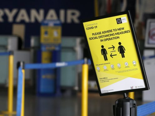 Fewer than two million people flew with Ryanair last month (Brian Lawless/PA)