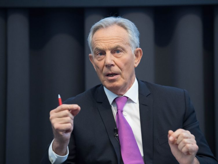Tony Blair said the EU's short-lived move to over-ride the Brexit deal on Northern Ireland was 'foolish' (Stefan Rousseau/PA)
