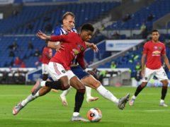 Marcus Rashford feels Manchester United have a forward-thinking frontline (Andy Rain/NMC Pool/PA)