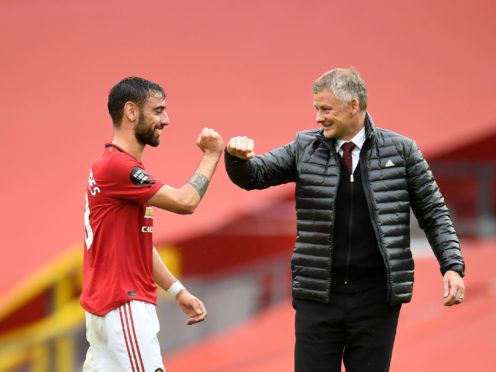 Bruno Fernandes and Ole Gunnar Solskjaer had a good Sunday (Peter Rowell/PA)