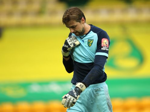 Norwich goalkeeper Tim Krul is in self-isolation following a positive Covid-19 test (Molly Darlington/NMC Pool/PA Wire/PA)