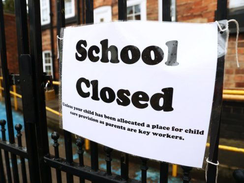 Schools will be closed under the latest lockdown in England (Tim Goode/PA)