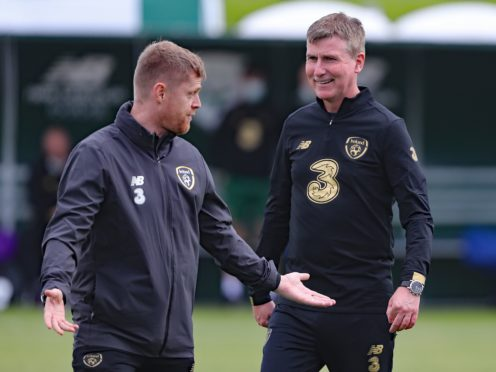 Republic of Ireland coach Damien Duff (left) is stepping down from manager Stephen Kenny's staff (Niall Carson/PA)