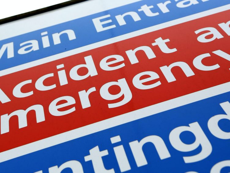Weekly accident and emergency department attendances for the week over Christmas fell by almost 3,000 on the week before (Chris Radburn/PA)