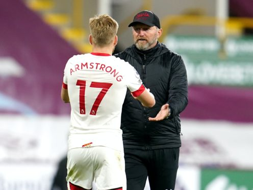 Ralph Hasenhuttl (right) is pleased Stuart Armstrong has committed to Saints (Jon Super/PA)
