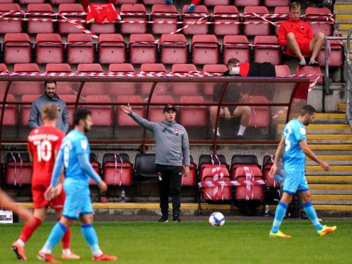 Leyton Orient manager Ross Embleton has been forced to miss the last three games while in self isolation (Tess Derry/PA)