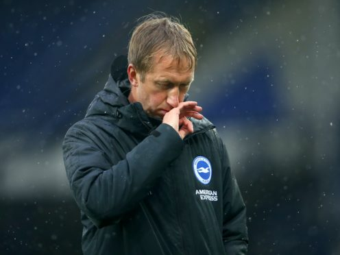 Brighton boss Graham Potter has come under scrutiny over the club's poor form (Alex Livesey/PA)