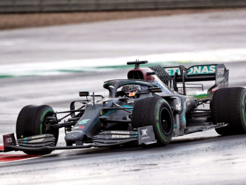 Lewis Hamilton drove to his seventh world championship in an all-black Mercedes (PA)