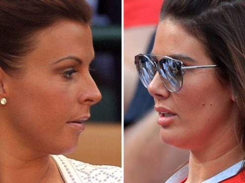 Rebekah Vardy (right) and Coleen Rooney (PA)