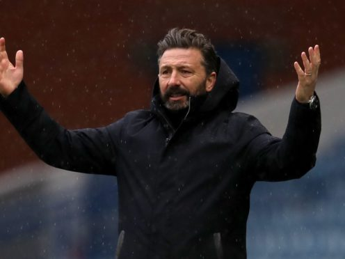 Derek McInnes has overseen two defeats to Rangers so far this season (Andrew Milligan/PA)