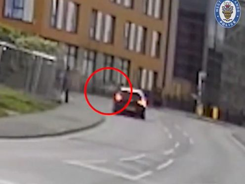 Screengrab of the moment Abdul Xasan was shot (West Midlands Police/PA)