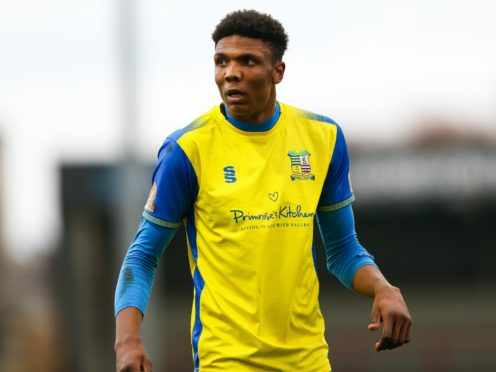 Kyle Hudlin scored the winner for Solihull (Barrington Coombs/PA)