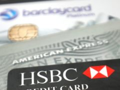 The amounts of money owed on credit cards evaporated at the fastest annual rate in October 2020 since the coronavirus pandemic started, according to UK Finance (Philip Toscano/PA)