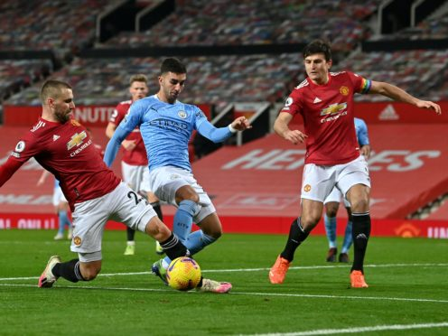 Manchester United and Manchester City meet in the Carabao Cup semi-final on Wednesday (Paul Ellis/PA)