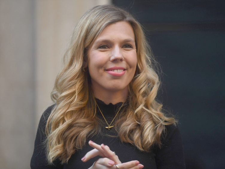 Carrie Symonds was named 'person of the year' by a leading animal rights group (Victoria Jones/PA)