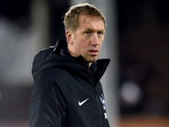Brighton manager Graham Potter knows his Premier League side face a tough test at Rodney Parade on Sunday (Glyn Kirk/PA)