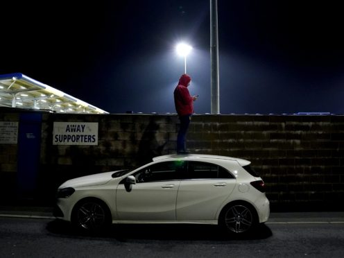 A frozen pitch at Holker Street has forced a postponement (Zac Goodwin/PA)