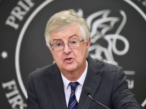 First Minister Mark Drakeford said cases of Covid-19 are falling in all areas of Wales (Ben Birchall/PA)