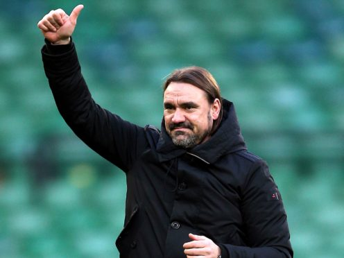 Norwich manager Daniel Farke hailed the performance of rookie goalkeeper Daniel Barden against Coventry (Nigel French/PA)