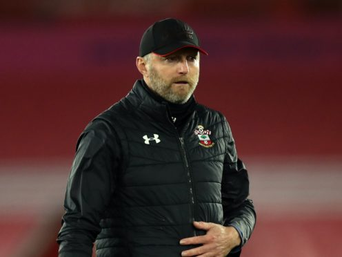 Southampton boss Ralph Hasenhuttl was not in attendance for the 0-0 draw with West Ham as he was self-isolating (Naomi Baker/PA)