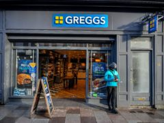 Greggs has sought to shore up trade by launching a delivery tie-up with Just Eat (Ben Birchall/PA)