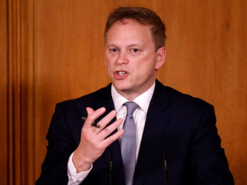 Transport Secretary Grant Shapps (Tolga Akmen/PA)