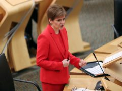 First Minister Nicola Sturgeon has said she is concerned about the rapid spread of the new strain (Russell Cheyne/PA)