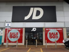Sportswear retailer JD Sports has said its UK stores are 'likely' to be shut until at least Easter (Steve Paston/PA)
