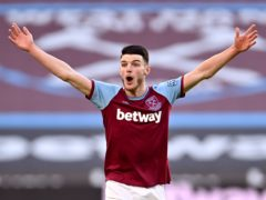 Declan Rice was at the heart of the banter on social media (Justin Setterfield/PA)