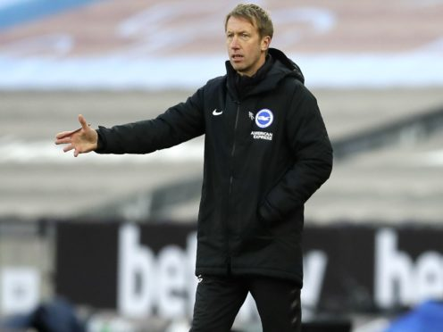 Brighton manager Graham Potter is expected to utilise his squad for the trip to Rodney Parade (Kirsty Wigglesworth/PA)