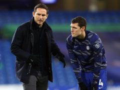 Frank Lampard, left, has leapt to the defence of centre-back Andreas Christensen, right (Richard Heathcote/PA)