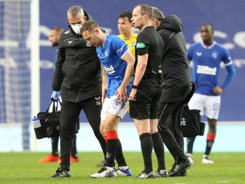 Rangers midfielder Scott Arfield is sidelined with an ankle injury (Jeff Holmes/PA)
