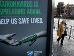 Coronavirus case numbers continue to be 'concerningly high', John Swinney said (PA)