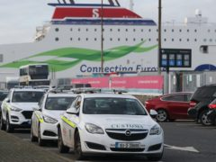 Customs vehicles at Dublin Port (Niall Carson/PA Wire)