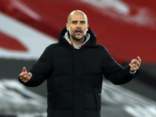 Manchester City manager Pep Guardiola will have five players unavailable for Sunday's trip to Chelsea after positive Covid-19 tests (Paul Childs/PA)