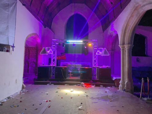 The church in Essex was damaged (Essex Police/PA)