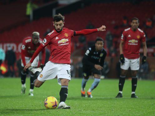 Bruno Fernandes scored the winning goal for Manchester United (Carl Recine/PA)