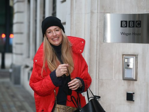Cat Deeley arrives at Wogan House in London (Jonathan Brady/PA)