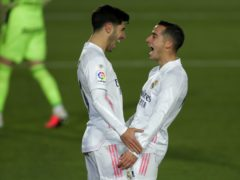 Marco Asensio (left) and Lucas Vazquez (right) were both on target for Los Blancos (AP Photo/Manu Fernandez)
