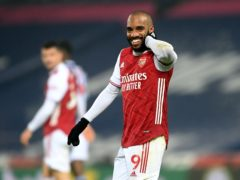 Arsenal's Alexandre Lacazette scored twice at West Brom on Saturday. (Michael Regan/PA)