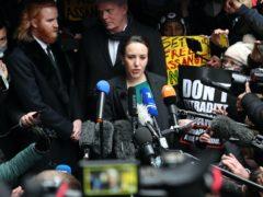 Julian Assange's partner Stella Moris speaks to the media outside the Old Bailey (Yui Mok/PA)