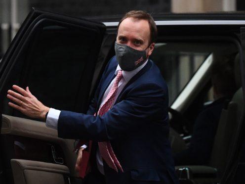 Heath Secretary Matt Hancock said flexing of the rules could lead to more Covid deaths (Victoria Jones/PA)