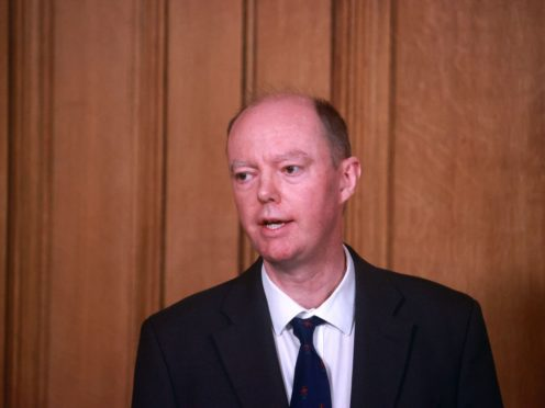 Chief medical officer Chris Whitty during a media briefing (PA)