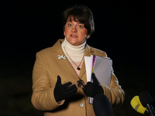 Northern Ireland's First Minister Arlene Foster said she was 'disgusted' after being threatened by loyalist paramilitaries (Liam McBurney/PA)