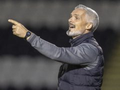Jim Goodwin questioned some decisions made by the referee (Jeff Holmes/PA)