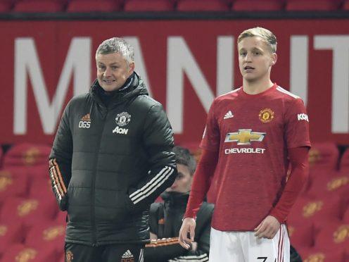 Ole Gunnar Solskjaer (left) has confirmed Donny Van De Beek will start on Saturday night (Peter Powell/PA)