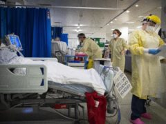Nurses work on patients in the ICU at St George's Hospital in Tooting (Victoria Jones/PA)