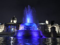 The Trafalgar Square fountains in London ((Yui Mok/PA)