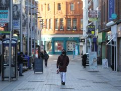 Belfast streets have emptied as Northern Ireland entered a strict new lockdown (Brian Lawless/PA)
