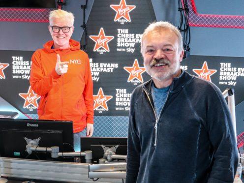 Chris Evans and Graham Norton (Virgin Radio/News UK/PA)